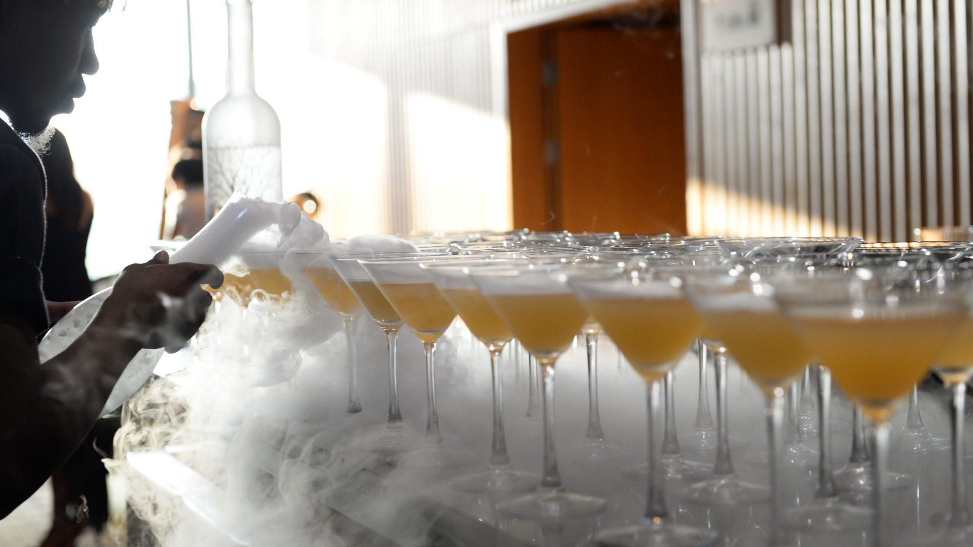 wedding reception cocktail